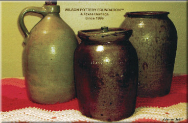 Jars with caption: Wilson Pottery Foundation, a Texas tradition since 1999